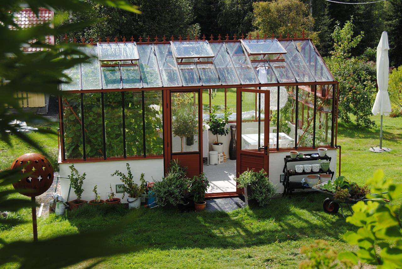 serre en verre jardin